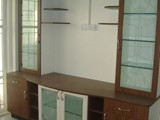 TV CABINET WITH GLASS UNIT
